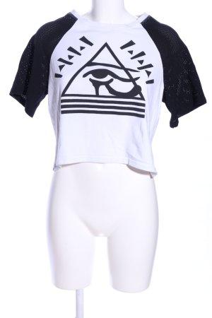Illustrated People T-Shirt weiß-schwarz Motivdruck Casual-Look