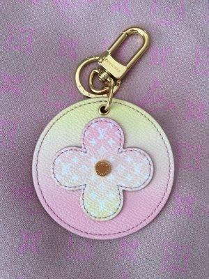 Louis Vuitton Porte-clés rose clair-jaune fluo