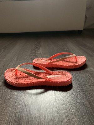 Ilse Jacobsen flip Flop pink neon orange Schlappen badeschlappen