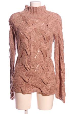 Ilse jacobsen Warkoczowy sweter brązowy Warkoczowy wzór W stylu casual