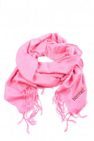 Imagini Écharpe à franges rose lettrage brodé style décontracté