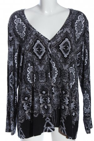 Imagini Long Sleeve Blouse black-white allover print casual look