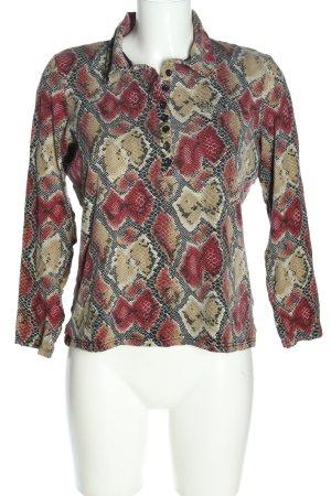 Imagini Polo-Shirt rot-schwarz Animalmuster Casual-Look