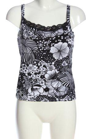 Imagini Spaghetti Strap Top white-black allover print casual look