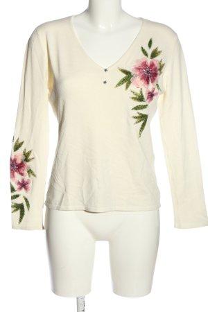 Imagini Strickshirt Blumenmuster Casual-Look