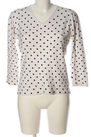Imagini Strickshirt weiß-schwarz Punktemuster Casual-Look
