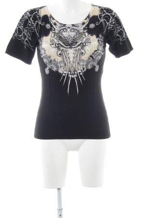 Imagini T-Shirt abstraktes Muster Casual-Look