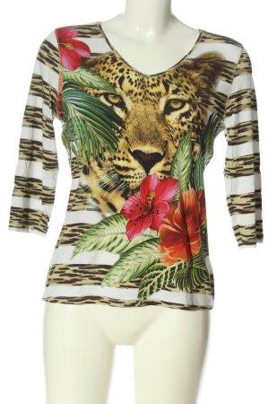 Imagini V-Neck Shirt animal pattern casual look