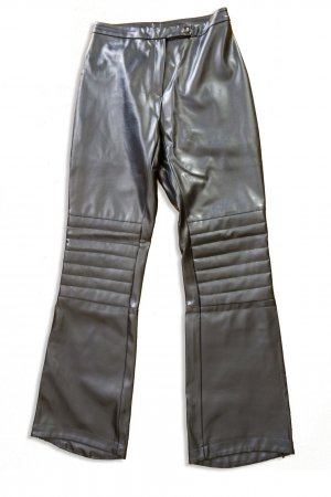 Orsay Leather Trousers black mixture fibre