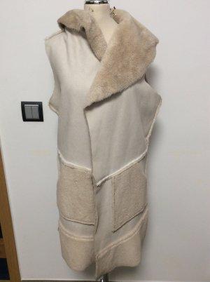 Made in Italy Cappotto in eco pelliccia crema