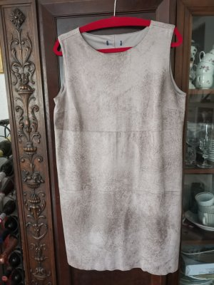 100% Fashion Leather Dress grey brown