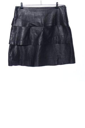 imitz Falda de cuero negro elegante