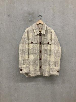 Shirt Jacket cream-natural white wool