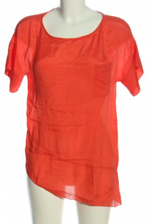 IMP Deluxe Transparenz-Bluse rot Casual-Look