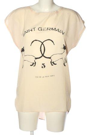 Imperial ärmellose Bluse creme Motivdruck Casual-Look