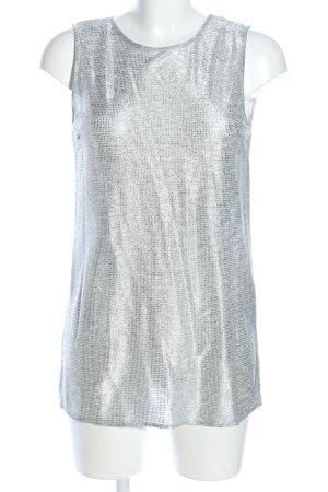 Imperial ärmellose Bluse silberfarben Elegant