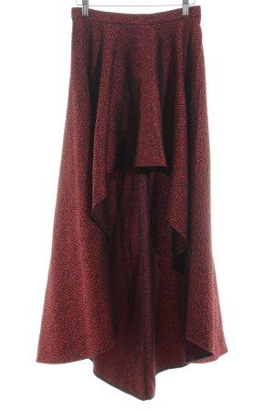 Imperial Falda asimétrica rojo-negro estampado gráfico estilo extravagante