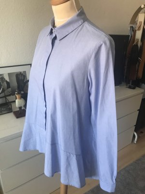 Imperial Bluse mit Volants in Blau