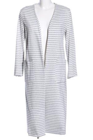 Imperial Cardigan bianco-grigio chiaro motivo a righe stile casual