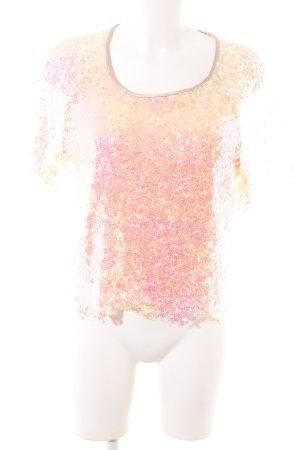 Imperial Camicia cropped rosa-crema Colore sfumato elegante
