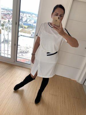Imperial Vestido de tela de sudadera blanco