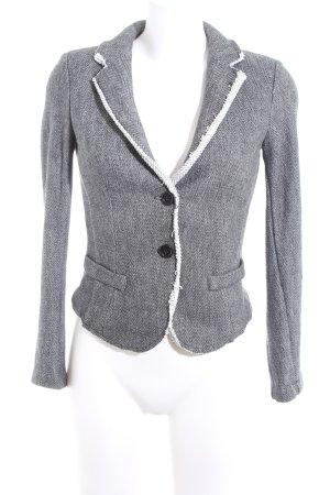 Imperial Blazer in jersey grigio chiaro-nero motivo grafico stile casual