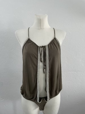 Imperial Backless Top green grey-khaki