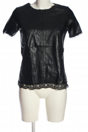 Imperial Kurzarm-Bluse schwarz Casual-Look