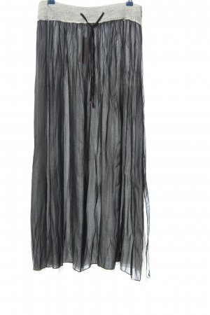 Imperial Maxi rok lichtgrijs gestippeld casual uitstraling
