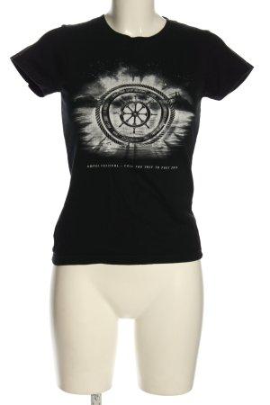 Imperial Print-Shirt schwarz-hellgrau Motivdruck Casual-Look