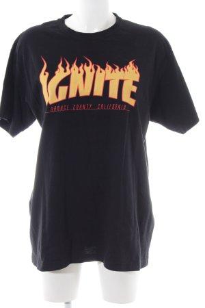 Imperial Print-Shirt blassgelb-rot Schriftzug gedruckt Casual-Look