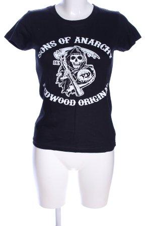 Imperial Print-Shirt schwarz-weiß Motivdruck Casual-Look