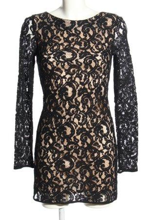 Imperial Spitzenkleid schwarz-creme abstraktes Muster Elegant