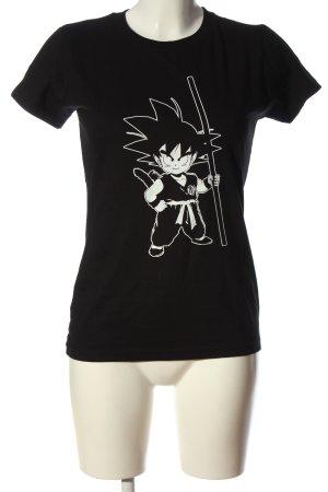 Imperial T-Shirt schwarz-weiß Motivdruck Casual-Look