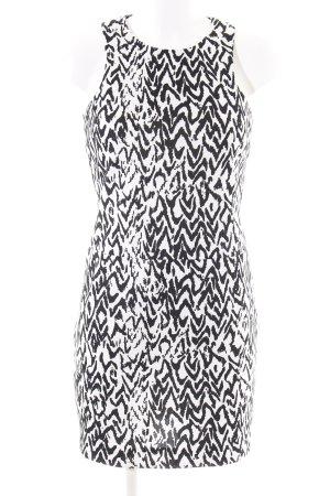 Imperial Trägerkleid weiß-schwarz abstraktes Muster Casual-Look