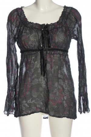 Imperial Transparenz-Bluse Allover-Druck Casual-Look
