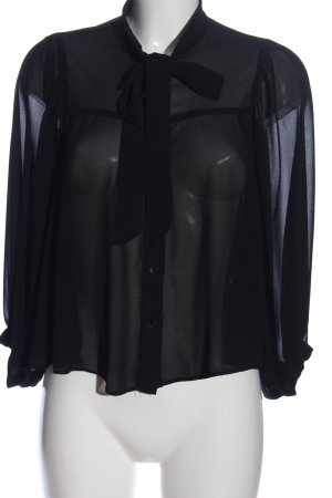 Imperial Transparenz-Bluse schwarz Casual-Look