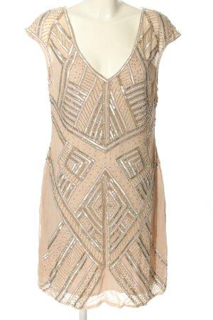 Impressionen Abendkleid creme grafisches Muster Elegant