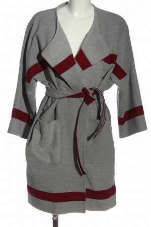 Impressionen Cappotto mezza stagione grigio chiaro-rosso stile casual