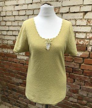 Impuls H&M Vintage Bouclé T-Shirt 90er Jahre anisgrün grün Gr. L (eher 38)
