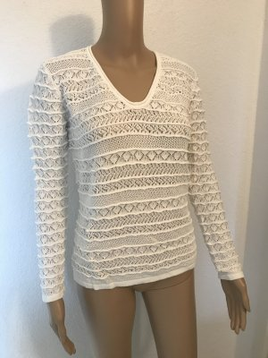 In Linea Crochet Shirt white viscose