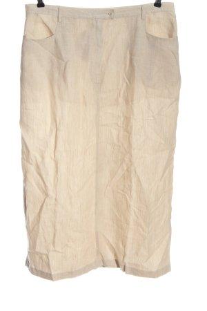 In Linea Gonna in lino bianco sporco stile casual