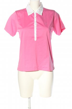 In Linea Polo-Shirt pink-weiß Casual-Look