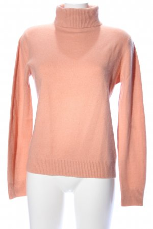 In Linea Rollkragenpullover hellorange Business-Look