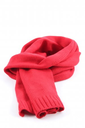 In Linea Sciarpa lavorata a maglia rosso stile casual
