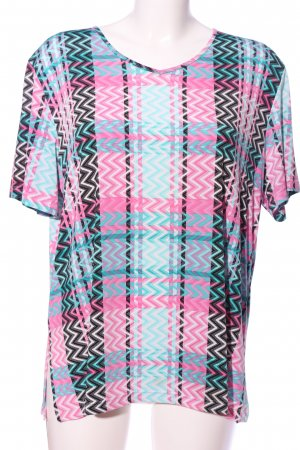 In-Print Kurzarm-Bluse Karomuster Casual-Look