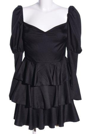 In the Style Blusenkleid schwarz Elegant