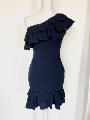 In the Style Vestido de un hombro azul oscuro-azul