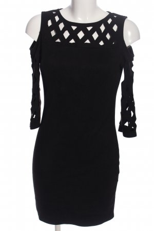 in Vogue Jerseykleid schwarz Business-Look