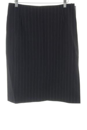 In Wear Bleistiftrock schwarz-weiß Streifenmuster Business-Look